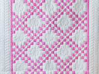 Princess Pink & White Irish Chain Crib Quilt
