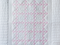 Princess Pink & White Nine Patch Crib Quilt