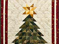 Dazzling Patchwork Christmas Tree Wall Hanging