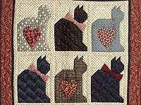 Charming Cats Patchwork Wall Hanging
