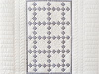 Gray and White Nine Patch Crib Quilt