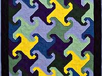 Indiana Amish Puzzle Pieces Quilt
