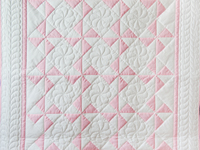 Princess Pink and White Pinwheel Crib Quilt