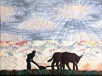 Plowman and Oxen Wall Hanging