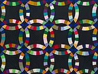 Indiana Amish Double Wedding Ring Quilt