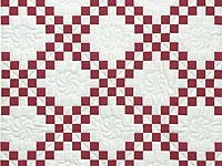 Red and White Irish Chain Quilt