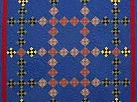 Indiana Amish Double Nine Patch Point Quilt