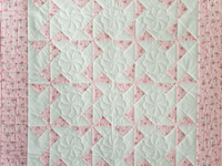 Cottage Garden Roses Pinwheel Quilt