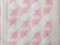 Soft Princess Pink and Sparkly Gray Log Cabin Quilt