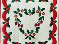 Holly Heart Christmas Wall Hanging