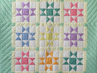 Pastel and Cream Ohio Stars Crib Quilt