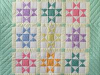 Pastel and Cream Ohio Stars Crib Quilt