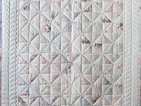 Soft Pink, Gray and White Pinwheel Crib Quilt