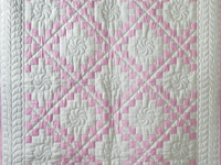 Petal Pink and White Irish Chain Quilt