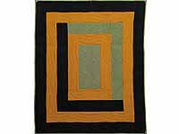 Indiana Amish Center Frame Quilt
