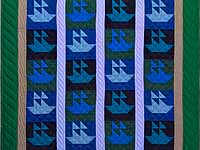 Indiana Amish Sailing Ships Quilt