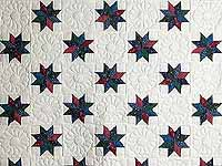 Navy Red and Multicolor Stars Throw