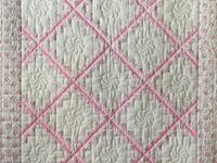 Princess Pink and Cream Floral Irish Chain