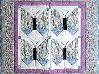 Lavender Blue and More Butterfly Patchwork Wall Hanging