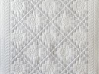 Pristine Gray and White Irish Chain Quilt
