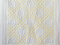 Lovely Yellow and White Irish Chain Quilt