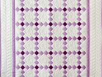 Berry, Lupine and Natural Nine Patch Quilt