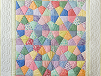 Pastel and Cream Kites Crib Quilt