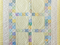 Patchwork and Hearts Crib Quilt