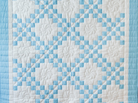 Beautiful Blue and White Irish Chain Crib Quilt
