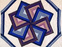 Blue and Mauve Spinning Star Wall Hanging