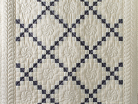 Natural and Gray Irish Chain Quilt