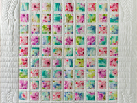 Watercolor Floral Delight Quilt
