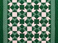 Indiana Amish Green and Cream Metathesis Quilt
