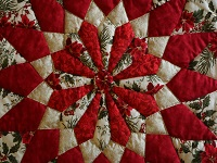 Christmas Floral  Red Table Top