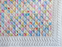 Pastel and White Hit or Miss Crib Quilt