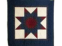 Navy and Burgundy Lone Star Quilt