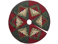 Lone Star Log Cabin Christmas Tree Skirt