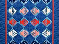 Indiana Amish Baskets in Blue Quilt