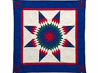 Miniature Indiana Amish Eden Lone Star Quilt