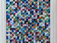 Indiana Amish Multi & Natural Hit or Miss Quilt