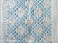 Lake Blue and White Irish Chain Quilt