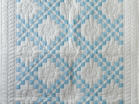 Lake Blue and White Irish Chain Quilt