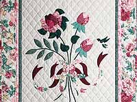 Rose and Green Lancaster Treasures Wall Hanging