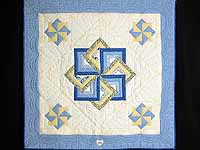 Blue and Yellow Star Spin Wall Hanging