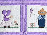 Amish Children Crib Quilt