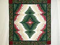 Red and Green Reflections Bargello Wall Hanging