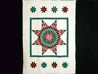 Green and Red Constellation Lone Star Throw