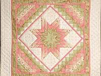Subdued Pink and Green Lone Star Trip Wall Hanging