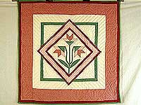 Rose and Green Carolina Lily Wall Hanging