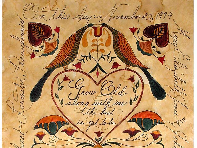 Personalized Fraktur Marriage Certificate by Elaine Kozak Photo 1